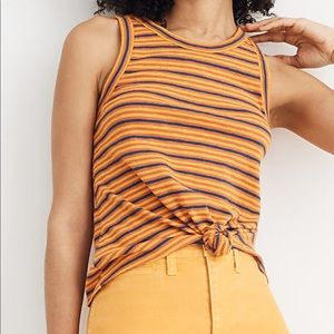 Madewell Large Striped Sleeveless Top Tie Front